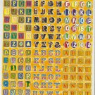 10 sheets Letters or Alphabets Sticker #H028-TM0045