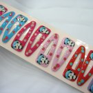Wholesale 60pcs Panda Strawberry Girl Snap Hair Clip 4.5cm (hole)