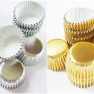 10rolls x 480pcs Silver + 10 rolls 480pcs Gold Mini Paper Cake Cup for Candy/Cookies/Petite/Cake 6cm