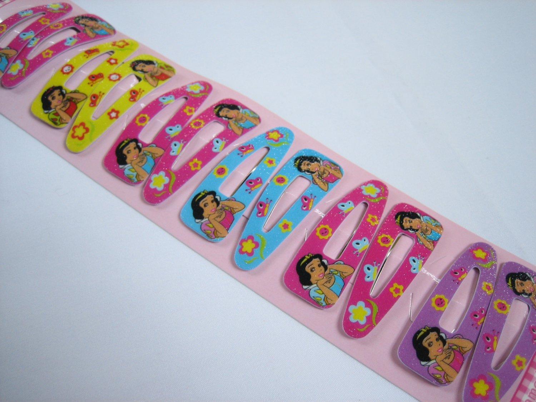 Wholesale 60pcs Snow White Girl Snap Hair Clip 4.5cm (Flower_hole)