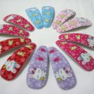 Wholesale 60pcs Rabbit Design Girl Snap Hair Clip 4.5cm (2rabbits_n/hole)
