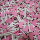 Wholesale 1000pcs Wooden Peg with Pink Heart