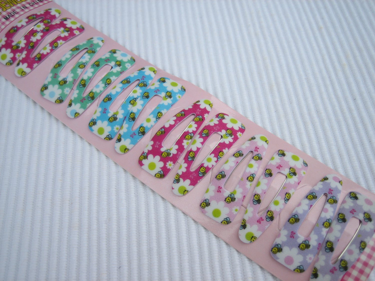 Wholesale 60pcs Bumble Bee and Flowers Girl Snap Hair Clip 4.5cm (hole)