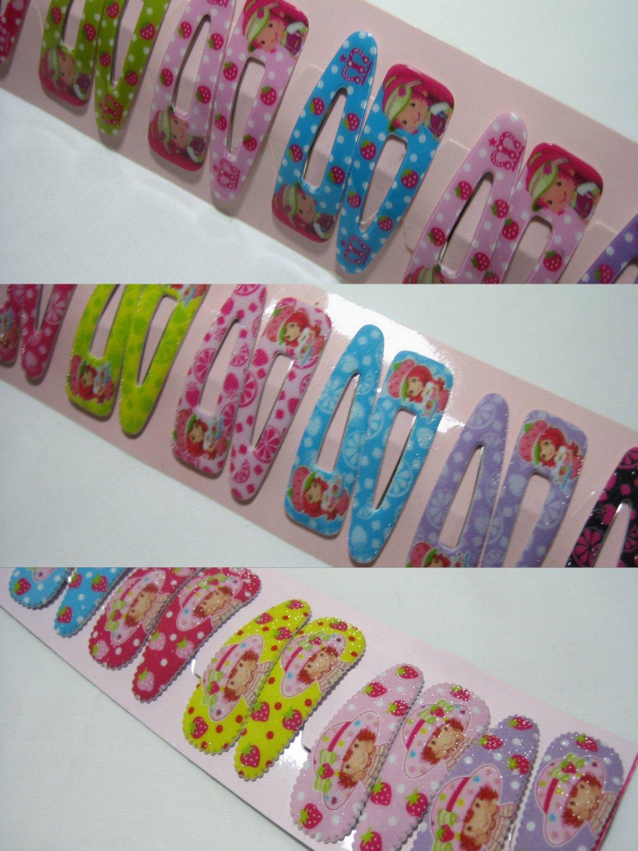 Wholesale 60pcs Mix Design of Strawberry Shortcake Girl Snap Hair 4.5cm Clip