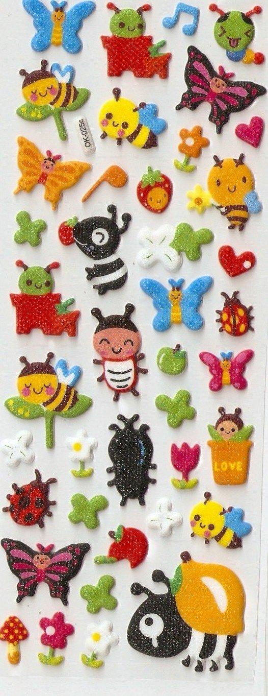 1 sheet Polka Dot Butterfly Mini Puffy Sticker F285 FREE SHIPPING