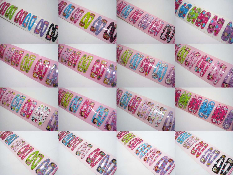 Wholesale 60pcs Mix Design Girl Snap Hair Clip 5.5cm (set 2)