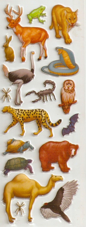 Animal Animal Animal Small Puffy Sticker