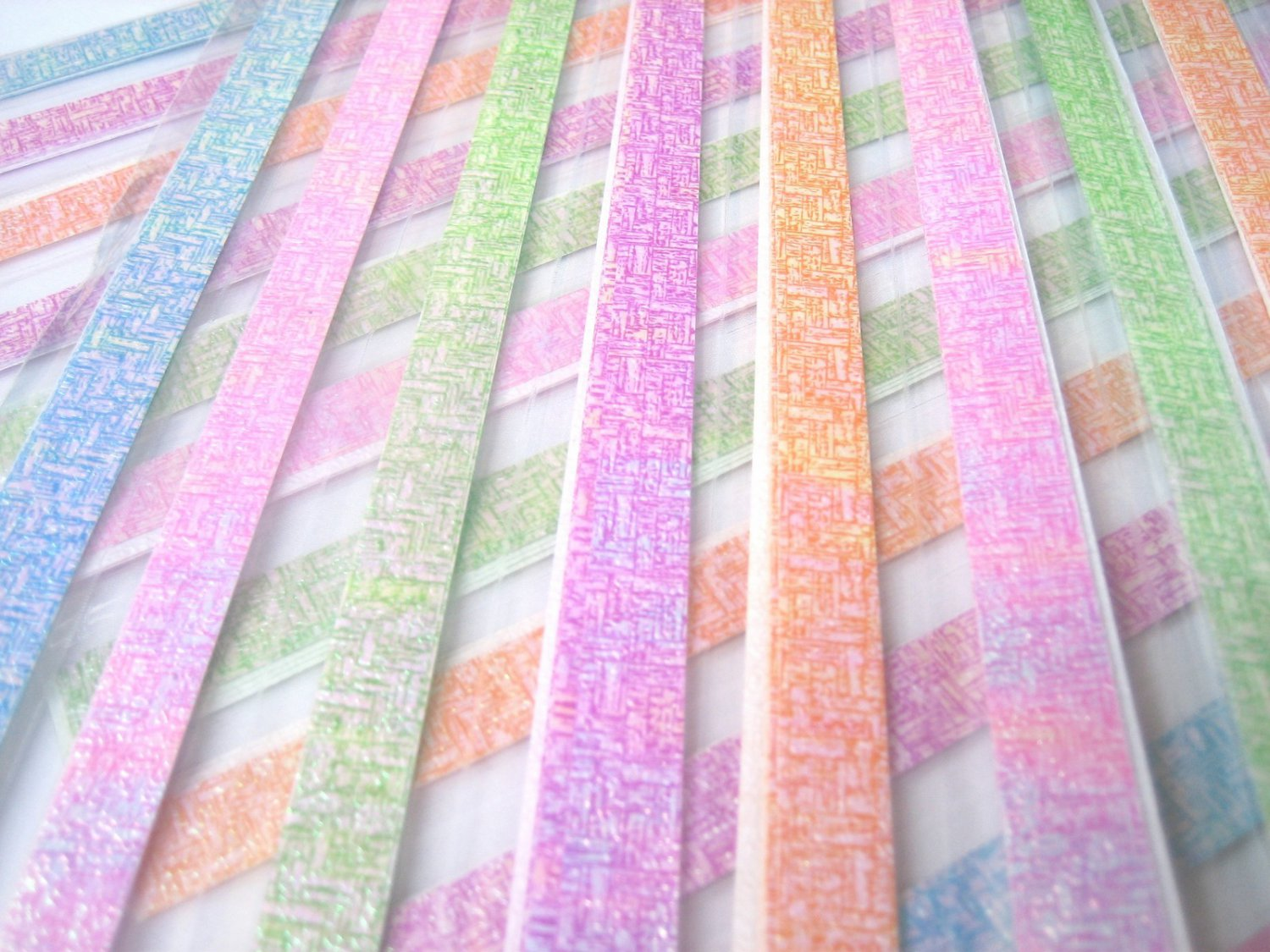 80 strips WEAVING PEARLESCENT Mix Colour Origami Folding Lucky Star Paper Strips 8A