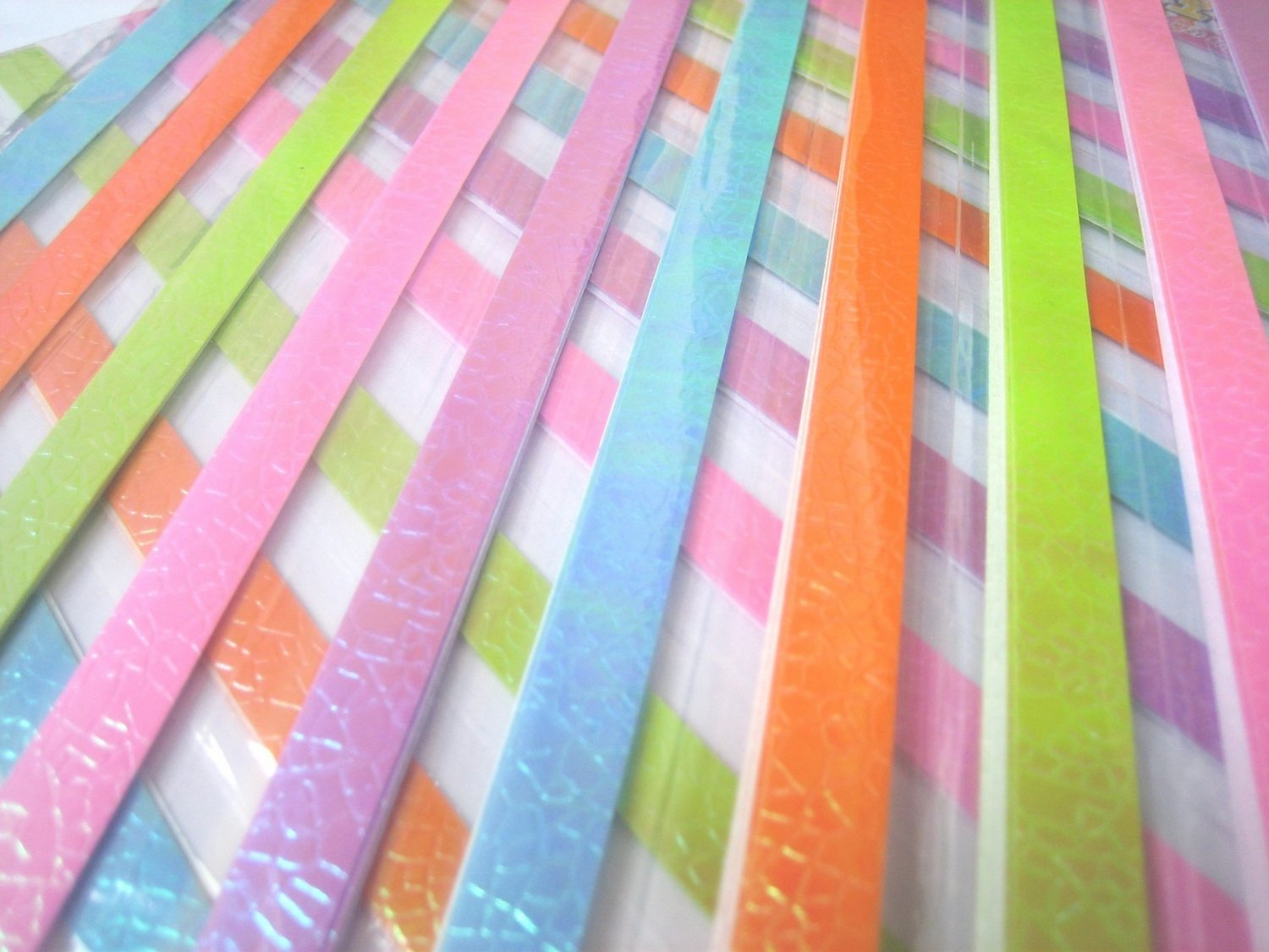 80pcs PEARL PASTEL  Mix Colour Origami Folding Lucky Star Paper Stripe 80A
