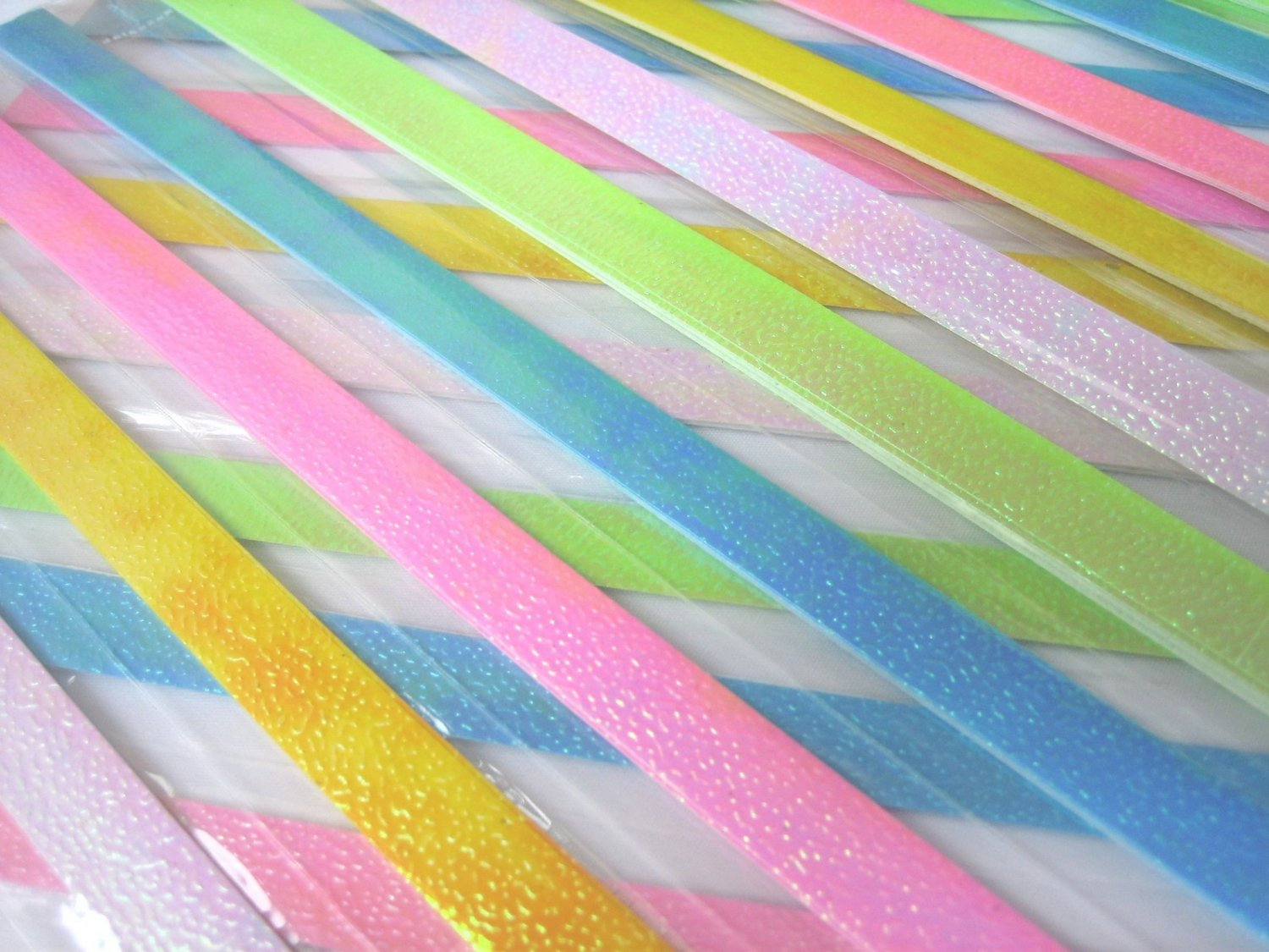 80 strips SHINY PEARLESCENT Mix Colour Origami Folding Lucky Star Paper Strips 80A