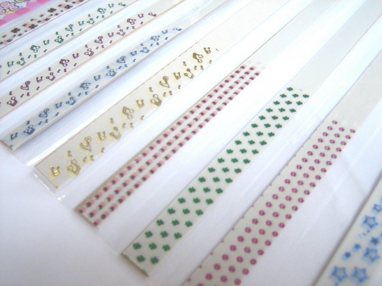 80pcs MUSIC NOTE etc Mix Colour Origami Folding Lucky Star Paper Stripe