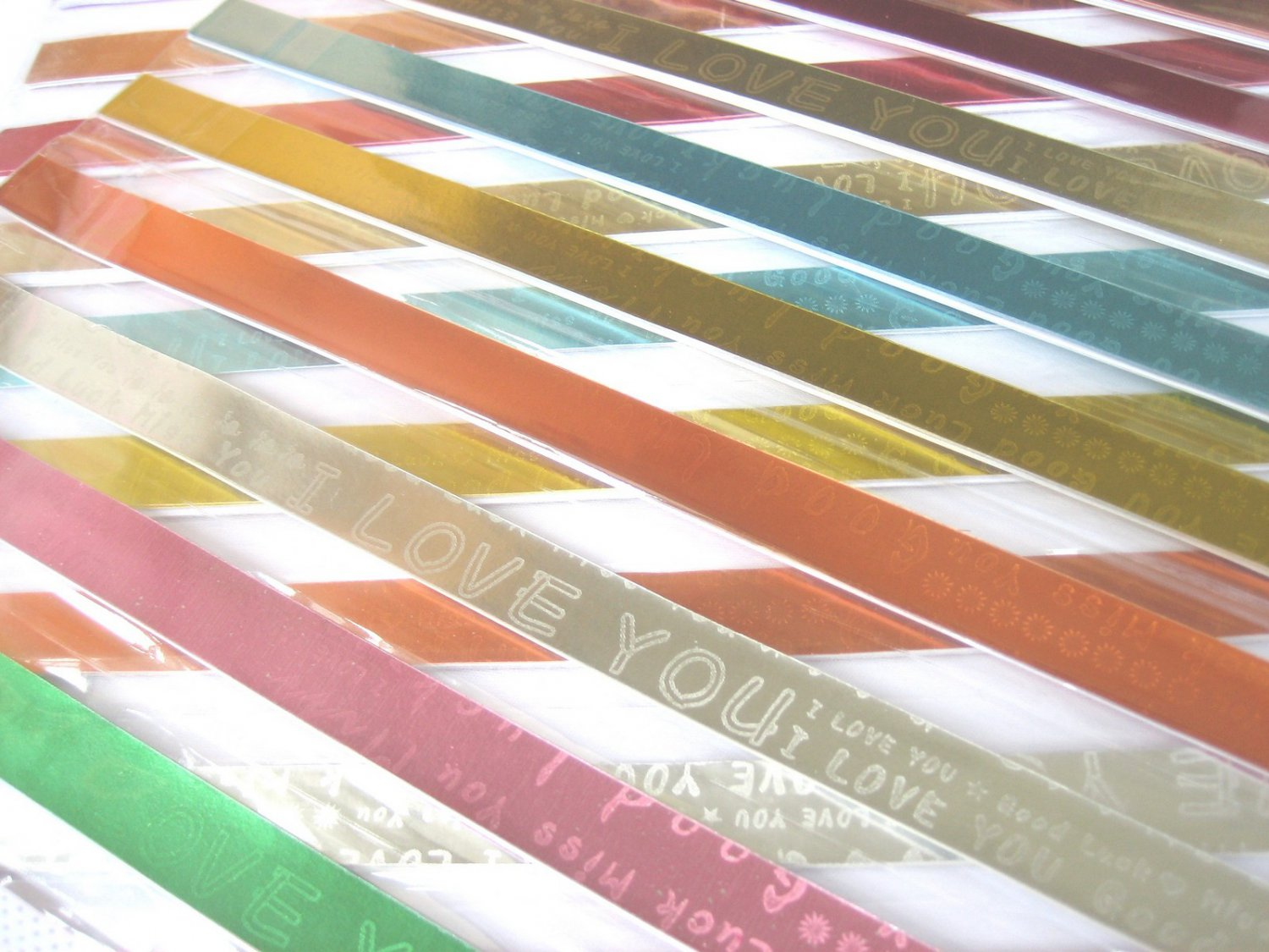 80 strips HIDDEN MESSAGE I LOVE U  Mix Colour Origami Folding Lucky Star Paper Strips 80A
