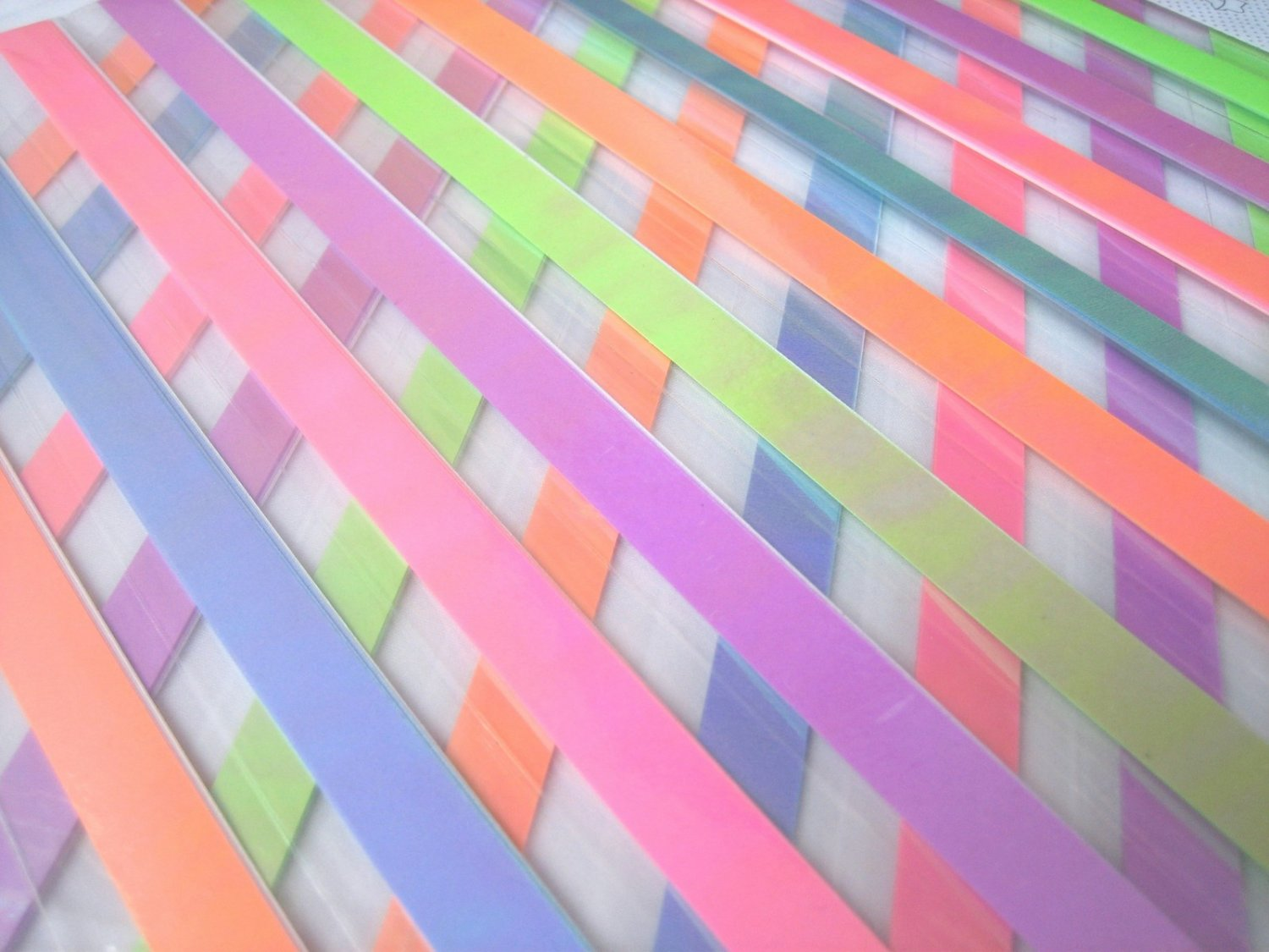80pcs COOL GALAXY PEARL Mix Colour Origami Folding Lucky Star Paper Stripe 80A