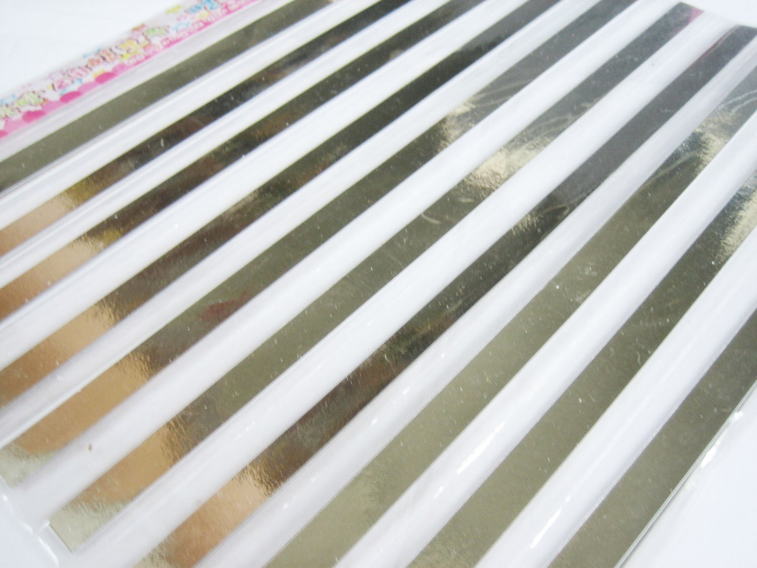 80pcs Shiny Silver Origami Lucky Star Paper Strips 80A