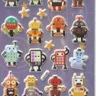 GZA1025 Robot World Mini Puffy Sticker FREE SHIPPING