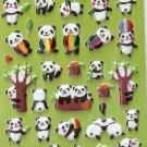 GZA1032 Story of Panda Mini Puffy Sticker FREE SHIPPING