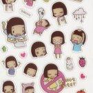 DON1019 Best Friends Mini Epoxy Sticker FREE SHIPPING