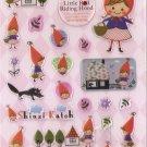 QIQ1014 Little Red Riding Hood Mini Epoxy Sticker FREE SHIPPING