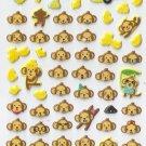EC010 Monkey Banana Mini Puffy Sticker FREE SHIPPING