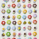 HAP1011 Bees & Flower Mini Puffy Sticker FREE SHIPPING