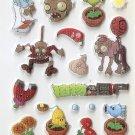 CHA1009 Plants & Zombie Mini Puffy Sticker FREE SHIPPING