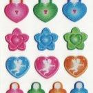 SO 053 Locks & Hearts Mini Sticker FREE SHIPPING