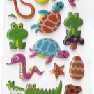 F226 Animal Dinasour Mini Puffy Sticker FREE SHIPPING