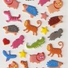 OK024d Animal Cute Mini Puffy Sticker FREE SHIPPING