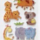 OK028e Animal Mini Puffy Sticker FREE SHIPPING