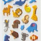 OK024b Fish & Animal Cute Mini Puffy Sticker FREE SHIPPING