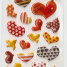 OK003D Heart Mini Puffy Sticker FREE SHIPPING