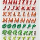 OK015f Letter Alphabet Mini Puffy Sticker FREE SHIPPING