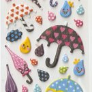 315A Umbrella Mini Puffy Sticker FREE SHIPPING