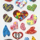 MP009 Heart Mini Puffy Sticker FREE SHIPPING