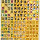 H026-TM0045 Letter Alphabet Removable A4 Sticker