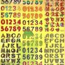 TM0011 Letter Alphabet Removable A4 Sticker