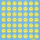BLF007A Smiley Face Removable A4 Sticker