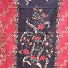 IM2757 Brown Red Batik Sarong Floral Beach Cover-up Wrap Pareo