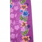 0012 Purple Batik Sarong Daun Dewa Batik Sarong Floral Beach Cover-up Wrap Pareo