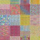 PROMO 30sheets A4 Multipurpose PVC Laser Sticker Letter Alphabets Craft Making