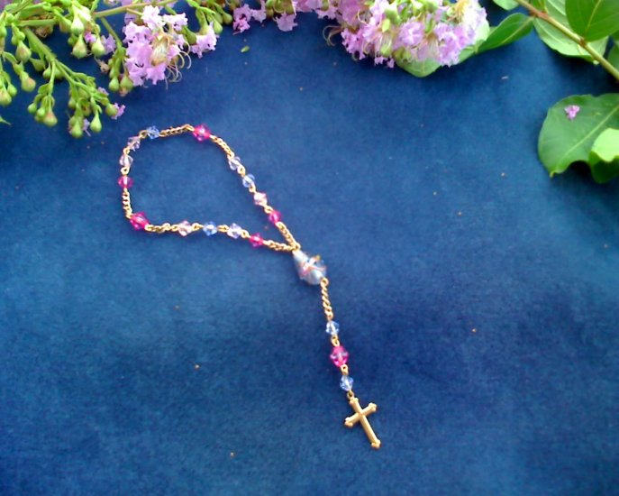 Gold and pink Chaplet