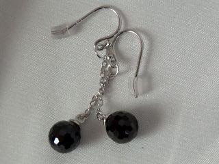 loving grape dangle zirconia earrings