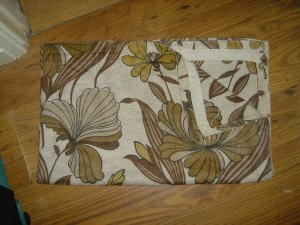 VINTAGE 70S RETRO BROWN CURTAINS
