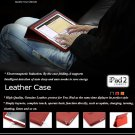 YOOBAO Black Genuine Leather Housing Faceplate Case for Apple Ipad 2 MORE COLOR CHOOSING