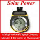 Solar Power Multifunctional Digital Compass & Altimeter & Barometer & Thermometer