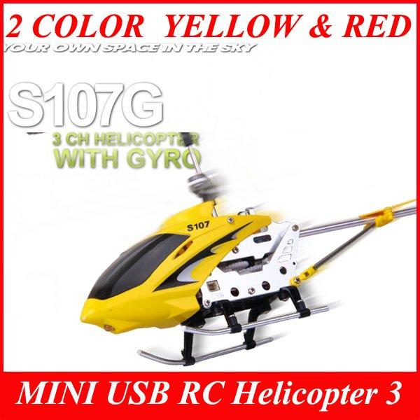 Syma S107G MINI USB RC Helicopter 3 CH GYRO RTF Metal