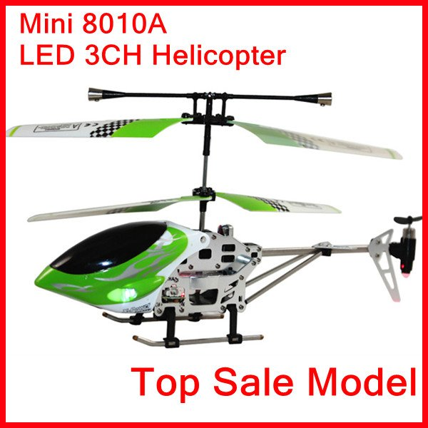 Mini 8010A Remote Radio Control Toys RC LED 3CH Helicopter R/C Helicopter 3CH RTF Ready to Fly