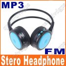 Digital Wireless Headphone FM SD/TF Stero Music  blue