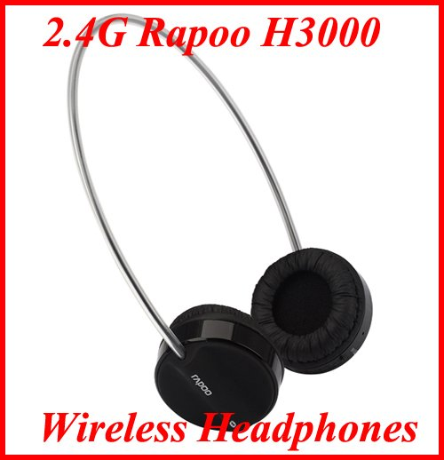 High Definition 2.4G Rapoo H3000 Wireless Headphones Microphone For PC USB 2.0 Jack