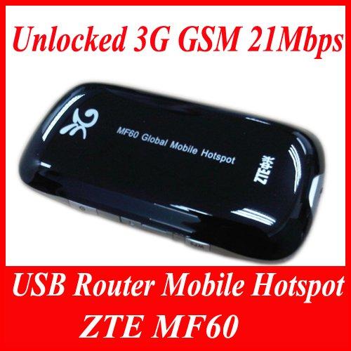ZTE MF60 Unlocked 3G GSM 21Mbps USB Router Mobile Hotspot NEW